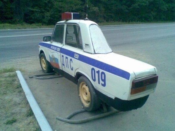 Муляж полицейской машины