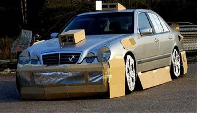 Тюнинг авто из картона