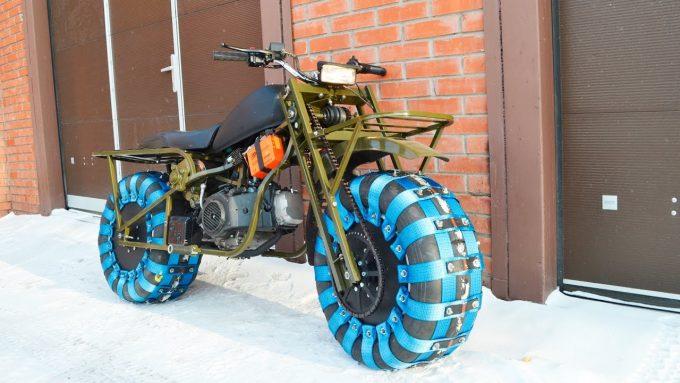 Кастомный самодельный мотоцикл