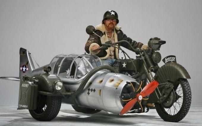 Самодельный мотоцикл с пропеллером