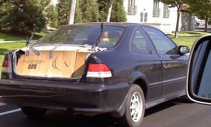 Картон вместо багажника