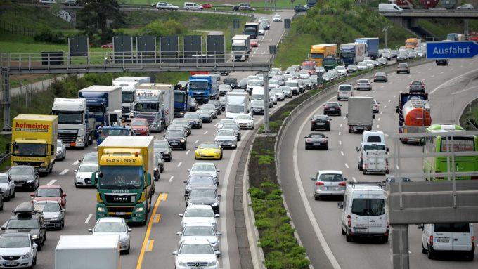Пробки на дорогах Европы