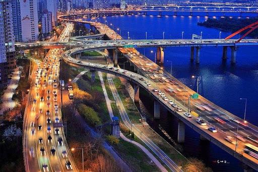 Дорожная развязка в Сеуле
