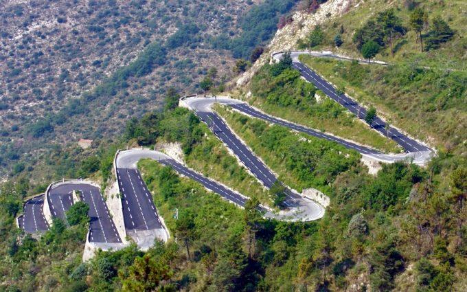 Трасса Col de Turini в Альпах