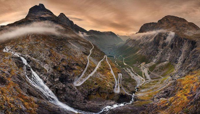 Дорога Тролльстиген, Норвегия