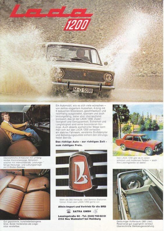 Реклама советского авто в иностранном журнале