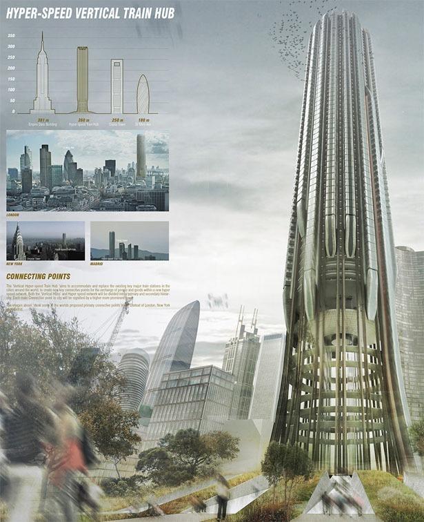 Вертикальный вокзал на небоскребе
