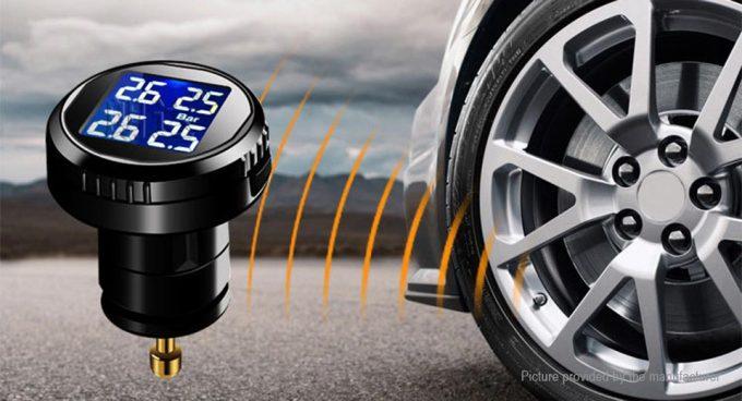 где находится датчик давления в шинах