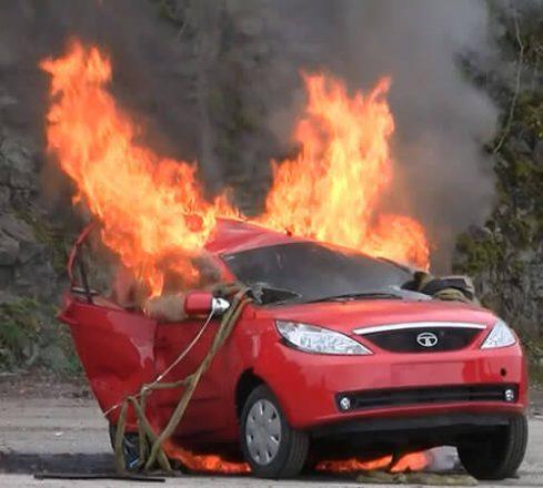 Воспламенение в машине.