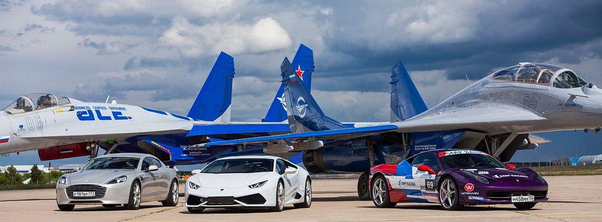 Гонки с самолётами в Жуковском.