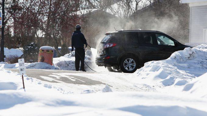 мойка авто зимой