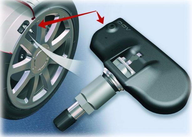 настройка датчика в шинах