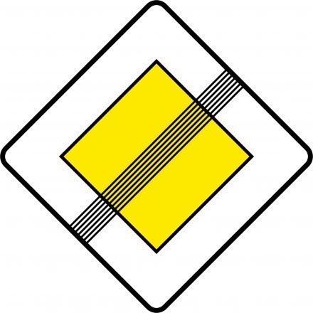 знак окончания главной дороги