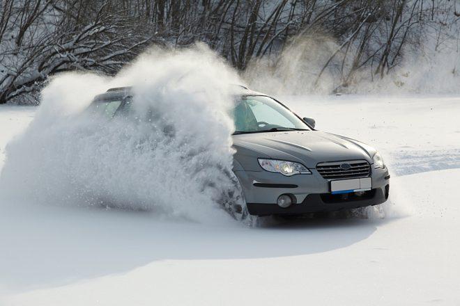 Занос на снегу