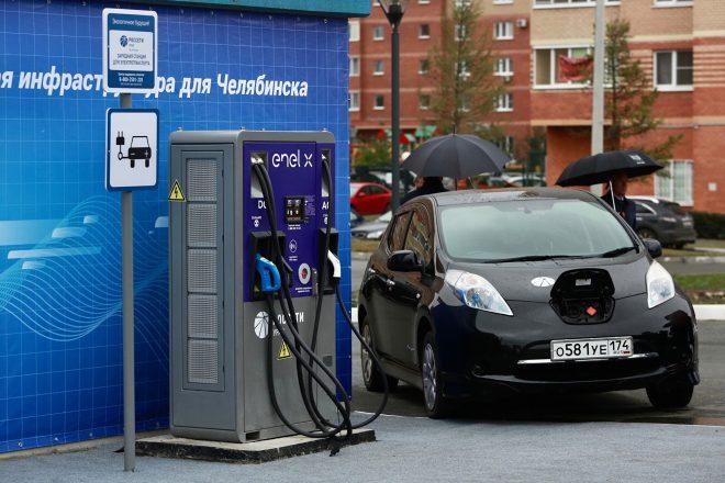 Электрозаправка в Челябинске.